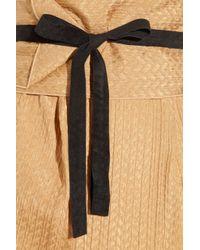Roland Mouret | Metallic Maxim Textured-silk Gown | Lyst