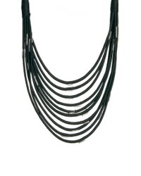 ASOS | Black Multi Row Scarf Necklace | Lyst