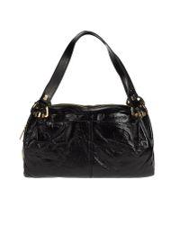 Studio Pollini - Black Large Leather Bag - Lyst