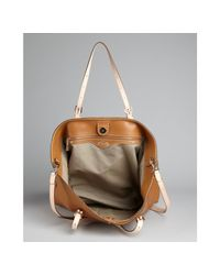 Tod's - Brown Cognac Leather Convertible Tote - Lyst
