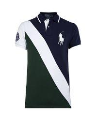 6e1548c15b0fc Polo Ralph Lauren Wimbledon Sash Polo Shirt in Blue for Men - Lyst