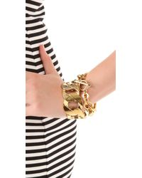 Juicy Couture - Metallic Chunky Link Bracelet - Lyst