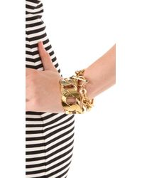 Juicy Couture | Metallic Stretch Chain Bracelet | Lyst