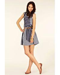 Oasis | Blue Stripe Belted Tunic Dress | Lyst