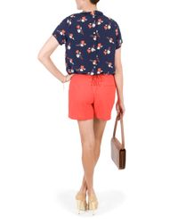 Raoul - Orange Lace Up Cotton Shorts - Lyst