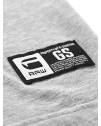 G-Star RAW | Gray Hawkeye Short Sleeve Tee in Grey Heather for Men | Lyst