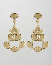 Kendra Scott | Metallic Daphiney Earrings Smoky Quartz | Lyst