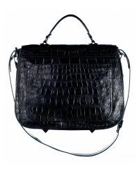 Proenza Schouler | Black Ps1 Extra Large Crocodile Bag | Lyst