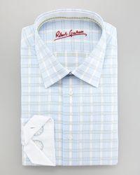 Robert Graham - Blue Scott Dress Shirt for Men - Lyst