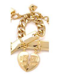 Fallon - Metallic BFF ID  Bracelet Set - Lyst
