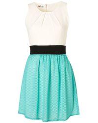 Topshop | Green Polka Dot Dress B | Lyst