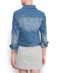 Mango | Blue Light Washed Denim Jacket | Lyst