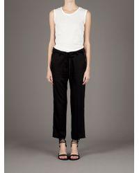 Ann Demeulemeester | White Sleeveless Tshirt | Lyst