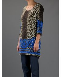 Versace | Multicolor Printed Tunic | Lyst