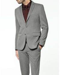 Zara | Gray Grey Microherringbone Blazer for Men | Lyst