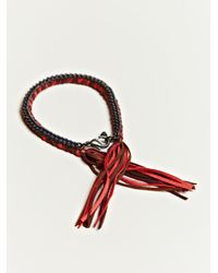 Alyssa Norton | Red Unisex Braided Silk and Suede Bracelet | Lyst