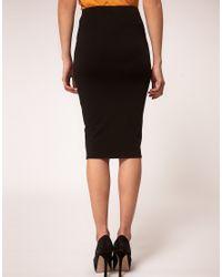 ASOS   Black Pencil Skirt in Jersey   Lyst