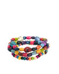 ASOS | Multicolor Asos Neon Skull Bracelet Pack for Men | Lyst