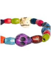 ASOS | Multicolor Asos Neon Skull Bracelet Pack for Men | Lyst