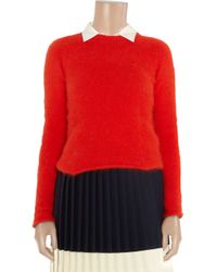 By Malene Birger | Red Pinna Angora-blend Sweater | Lyst