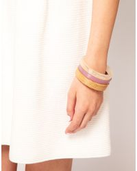 French Connection - Multicolor Three Pack Bangles - Lyst