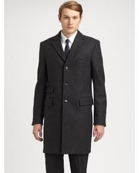 Jil Sander | Gray Vivaldi Wool Top Coat for Men | Lyst