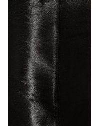 Ralph Lauren Black Label | Black Patty Calf Hair Mini Skirt | Lyst