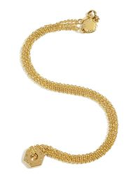 Marc By Marc Jacobs | Metallic Golden Tiny Bolt Necklace | Lyst