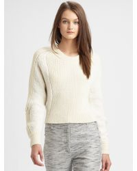3.1 Phillip Lim | White Cropped Woolblend Sweater | Lyst