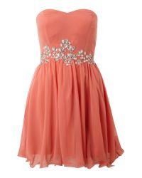 AX Paris   Pink Ax Paris Sleeveless Jewel Chiffon Dress   Lyst