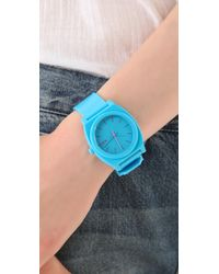 Nixon | Blue The Time Teller P Watch | Lyst