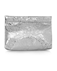Acne Studios - Oxide Metallic Crinkledleather Pouch - Lyst