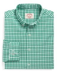 Brooks Brothers | Green Large Gingham Sport Shirt for Men | Lyst