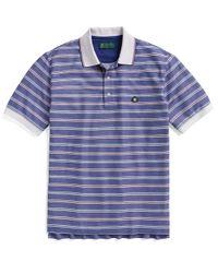 Brooks Brothers | Blue St Andrews Links Framed Multi Stripe Polo for Men | Lyst
