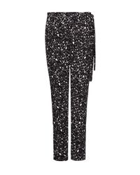 Mango - Black Printed Baggy Trousers - Lyst