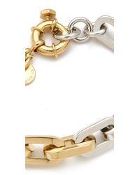 Marc By Marc Jacobs - Metallic Mini Links Bicolor Link Bracelet - Lyst