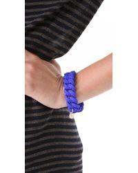 Marc By Marc Jacobs - Blue Rubber Turnlock Bracelet - Lyst