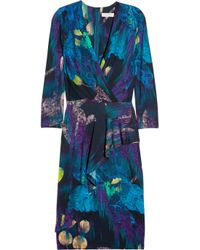 Matthew Williamson | Blue Printed Jersey Dress | Lyst