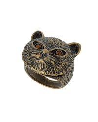 TOPSHOP | Black Cat Ring | Lyst