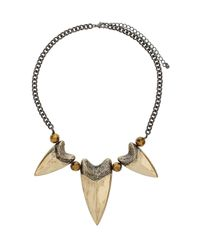 TOPSHOP | Metallic Tooth Collar Necklace | Lyst