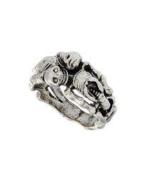 TOPSHOP | Metallic Sleeping Skeleton Ring | Lyst
