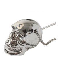 Y-3 - Metallic Y3 Exclusive Skull Necklace Silver for Men - Lyst