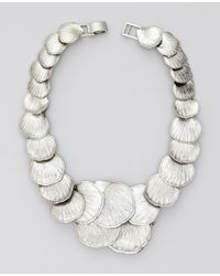 Ann Taylor | Metallic Seashell Statement Necklace | Lyst