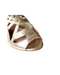 Biba - Metallic Penny Sandals - Lyst