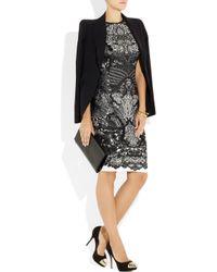 Alexander McQueen   Black Wool blend Intarsia Dress   Lyst