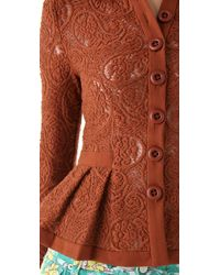 Nanette Lepore | Brown Summer Flame Lace Jacket | Lyst