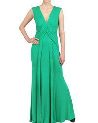 Issa | Green Silk Crepe Long Dress | Lyst