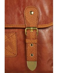 Topshop | Brown Retro Faux Snake Trim Satchel | Lyst