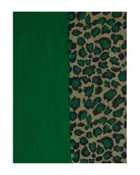 Linea | Animal Half Solid Half Leopard Print Scarf | Lyst