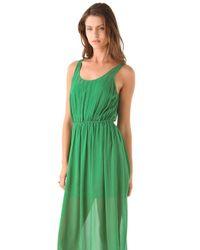 Club Monaco | Green Diane Dress | Lyst